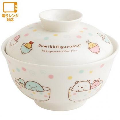 小禮堂 角落生物 陶瓷碗公 附蓋 丼飯碗 拉麵碗 飯碗 湯碗 (白 彩點)