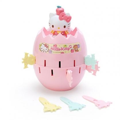 小禮堂 Hello Kitty 危機一發玩具 派對遊戲 益智玩具 桌遊 (粉 蛋型)