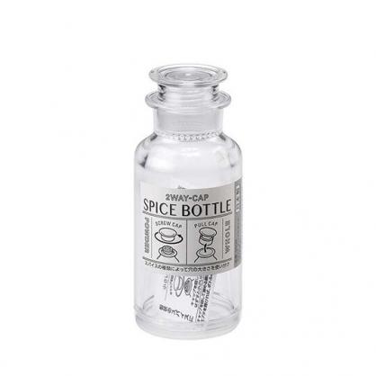 小禮堂 Inomata 日製 圓形透明調味罐組 塑膠調味罐 鹽罐 胡椒罐 (白)