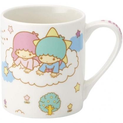 小禮堂 雙子星 陶瓷馬克杯 咖啡杯 茶杯 陶瓷杯 240ml (白綠 雲朵)