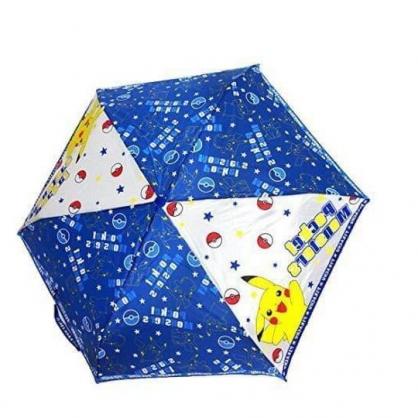 小禮堂 寶可夢 皮卡丘 彎把防風傘骨折疊傘 防風折傘 彎把折傘 雨傘 (藍 星星)