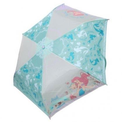 小禮堂 迪士尼 小美人魚 彎把防風傘骨折疊傘 防風折傘 彎把折傘 雨傘 (綠 轉身)