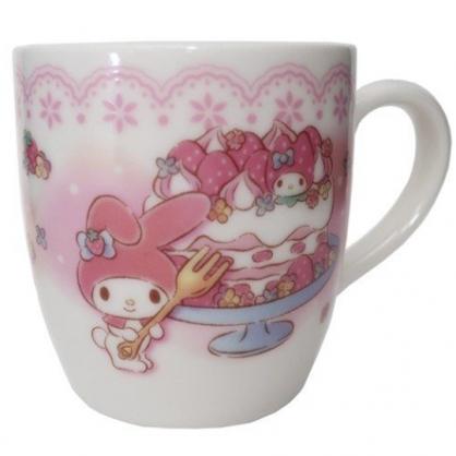 小禮堂 美樂蒂 日製 陶瓷馬克杯 咖啡杯 茶杯 陶瓷杯 金正陶器 (粉 蛋糕)