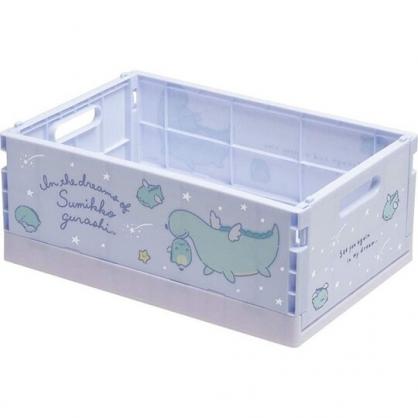 小禮堂 角落生物 折疊無蓋收納箱 塑膠收納箱 折疊收納箱 小物箱 (M 藍 翅膀)