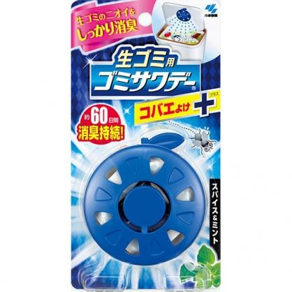 小禮堂 小林製藥 圓形垃圾桶除臭貼片 防蠅貼片 芳香貼片 除臭劑 薄荷香 (深藍)
