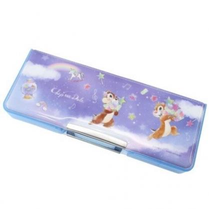 小禮堂 迪士尼 奇奇蒂蒂 雙開式鉛筆盒 多功能鉛筆盒 塑膠筆盒 鉛筆袋 (紫 星空)