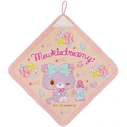 小禮堂 甜夢貓 可掛式純棉割絨擦手巾 吸水毛巾 擦手毛巾 34x34cm (粉 香水)