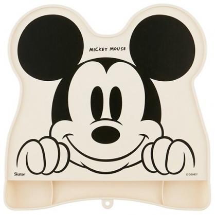 小禮堂 迪士尼 米奇 可收納造型防漏餐墊 矽膠餐墊 防滑餐墊 兒童餐墊 (米 大臉)