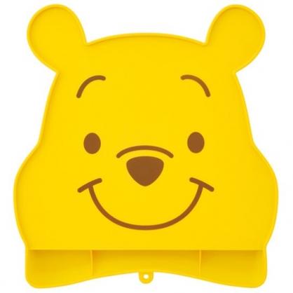 小禮堂 迪士尼 小熊維尼 可收納造型防漏餐墊 矽膠餐墊 防滑餐墊 兒童餐墊 (黃 大臉)