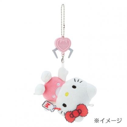 小禮堂 Hello Kitty 絨毛吊飾 玩偶吊飾 玩偶鑰匙圈 包包吊飾 (粉 遊戲街)