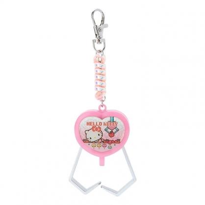 小禮堂 Hello Kitty 夾子造型塑膠鑰匙圈 玩具鑰匙圈 玩具吊飾 (粉 遊戲街)