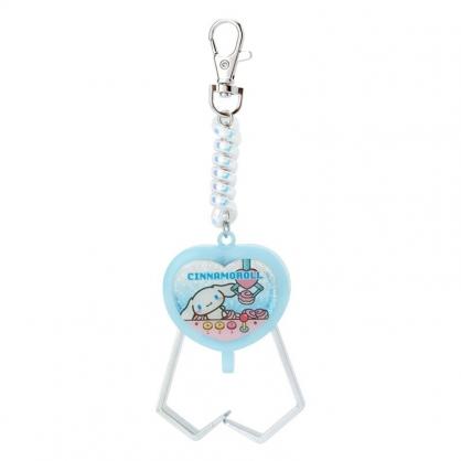小禮堂 大耳狗 夾子造型塑膠鑰匙圈 玩具鑰匙圈 玩具吊飾 (藍 遊戲街)