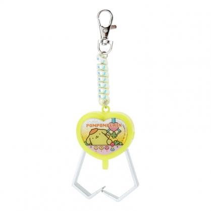 小禮堂 布丁狗 夾子造型塑膠鑰匙圈 玩具鑰匙圈 玩具吊飾 (黃 遊戲街)