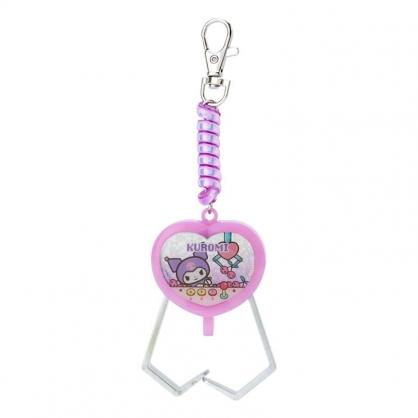 小禮堂 酷洛米 夾子造型塑膠鑰匙圈 玩具鑰匙圈 玩具吊飾 (紫 遊戲街)
