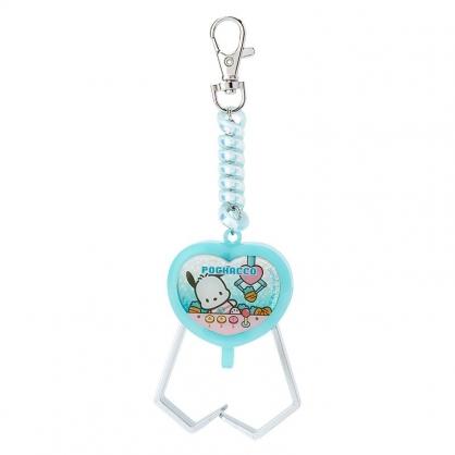 小禮堂 帕恰狗 夾子造型塑膠鑰匙圈 玩具鑰匙圈 玩具吊飾 (綠 遊戲街)