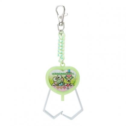 小禮堂 大眼蛙 夾子造型塑膠鑰匙圈 玩具鑰匙圈 玩具吊飾 (綠 遊戲街)