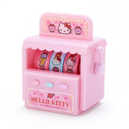 小禮堂 Hello Kitty 拉霸機造型紙膠帶組 包裝膠帶 紙膠布 細膠帶 (3入 粉 遊戲街)