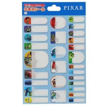 小禮堂 迪士尼 皮克斯 日製 防水姓名貼紙組 防水貼紙 標籤貼紙 (藍 集合)