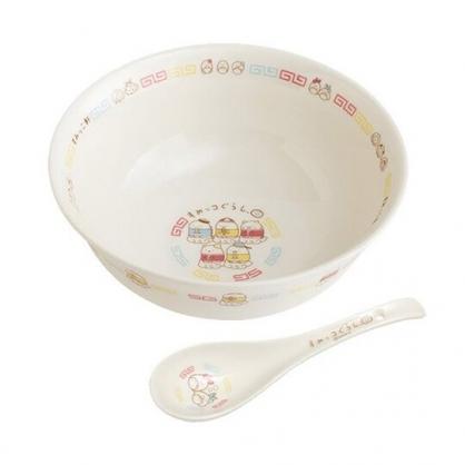 小禮堂 角落生物 陶瓷碗公 附湯匙 拉麵碗 丼飯碗 湯碗 調羹 (白 中國服)