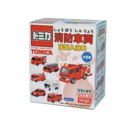 小禮堂 TOMICA多美小汽車 入浴球 入浴劑 泡澡球 沐浴球 盒裝 (6款隨機 紅 消防車)