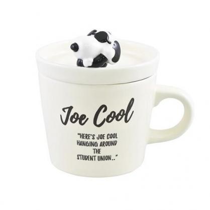 小禮堂 史努比 陶瓷馬克杯 附造型蓋 寬口杯 咖啡杯 茶杯 大西賢陶瓷 (白 墨鏡)