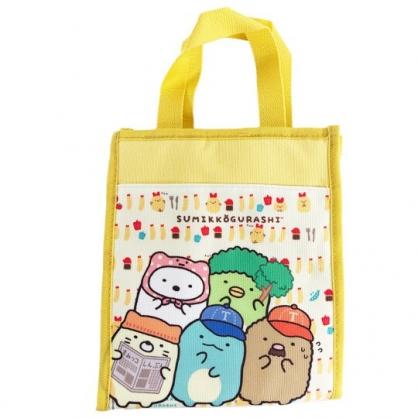 小禮堂 角落生物 直式尼龍保冷便當袋 午餐袋 保冷提袋 保溫袋 野餐袋 (黃 帽子)