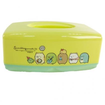 小禮堂 角落生物 方形塑膠面紙盒 抽取式紙巾盒 衛生紙盒 口罩盒 (綠 排站)