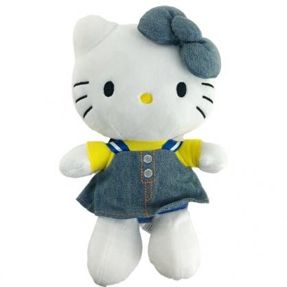 小禮堂 Hello Kitty 8吋絨毛玩偶 絨毛娃娃 小型玩偶 布偶 (S 牛仔裝)