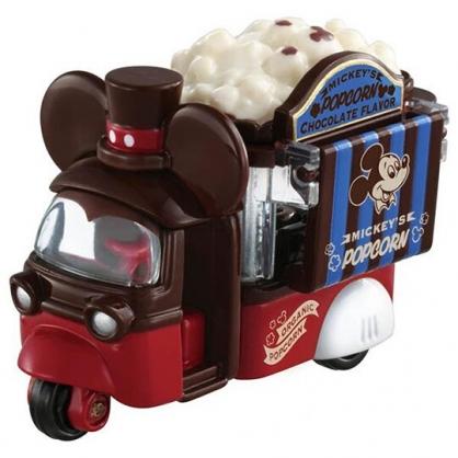 小禮堂 TOMICA多美小汽車 迪士尼 米奇 造型爆米花車 玩具車 模型車 情人節限定 (紅棕)