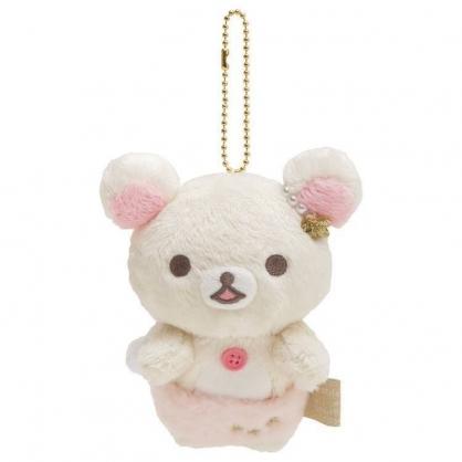 小禮堂 懶懶熊 牛奶熊 絨毛吊飾 玩偶吊飾 玩偶鑰匙圈 包包吊飾 (米粉 天使)