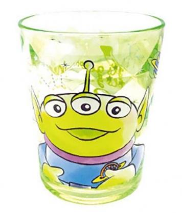 小禮堂 迪士尼 三眼怪 無把塑膠杯 透明杯 壓克力杯 兒童水杯 300ml (綠 微笑)