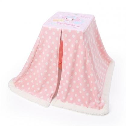 小禮堂 美樂蒂 方形絨毛膝上枕靠枕 絨毛坐墊 單人毯 懶人桌 小暖桌 (粉)