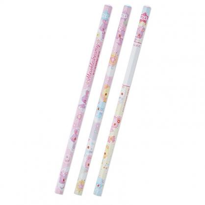 小禮堂 甜夢貓 六角鉛筆組 2B鉛筆 木鉛筆 (3入 紫 滿版)