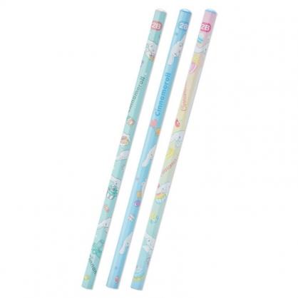 小禮堂 大耳狗 六角鉛筆組 2B鉛筆 木鉛筆 (3入 藍 滿版)