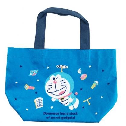 小禮堂 哆啦A夢 帆布手提袋 船形手提袋 便當袋 帆布袋 (藍 2020聖誕節)