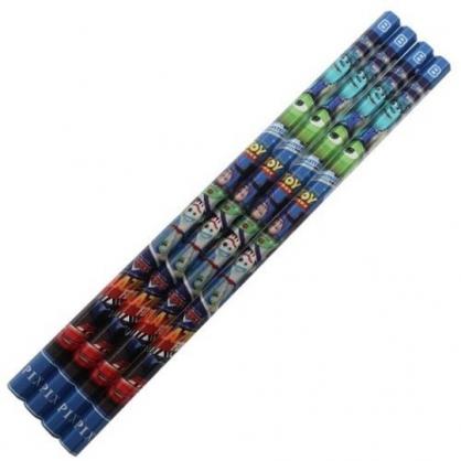 小禮堂 迪士尼 皮克斯 日製 六角鉛筆組 B鉛筆 木鉛筆 (4入 深藍 介紹)