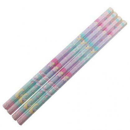 小禮堂 雙子星 日製 六角鉛筆組 2B鉛筆 木鉛筆 (4入 粉綠 飲料)