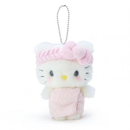 小禮堂 Hello Kitty 絨毛吊飾 玩偶吊飾 玩偶鑰匙圈 包包吊飾 (粉 溫泉澡堂)