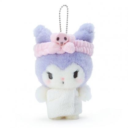 小禮堂 酷洛米 絨毛吊飾 玩偶吊飾 玩偶鑰匙圈 包包吊飾 (紫 溫泉澡堂)
