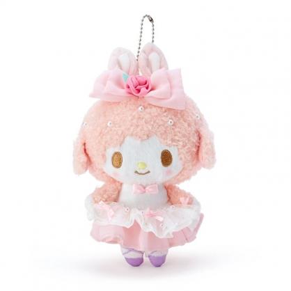 小禮堂 美樂蒂 綿羊 絨毛吊飾 玩偶吊飾 玩偶鑰匙圈 包包吊飾 (粉 芭蕾劇場)