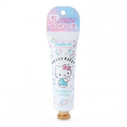 小禮堂 Hello Kitty 條狀香氛洗手乳 抗菌洗手乳 攜帶式洗手乳 洗手液 肥皂香 (白 防疫對策)