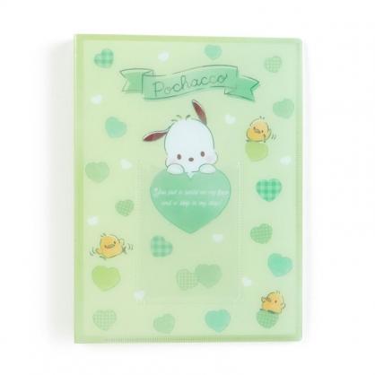 小禮堂 帕恰狗 日製 16頁直式卡片收納本 拍立得收納本 相簿 卡冊 (綠 演唱會粉絲收納)