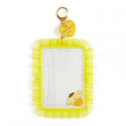 小禮堂 布丁狗 蕾絲邊框相框鑰匙圈 透明相框 相框吊飾 相片架 (黃 演唱會粉絲收納)