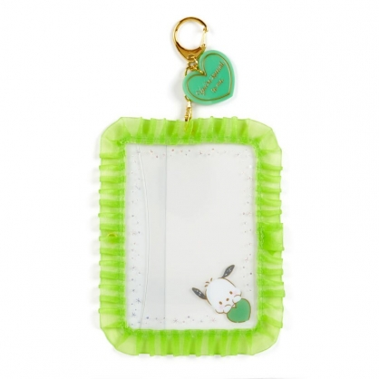小禮堂 帕恰狗 蕾絲邊框相框鑰匙圈 透明相框 相框吊飾 相片架 (綠 演唱會粉絲收納)