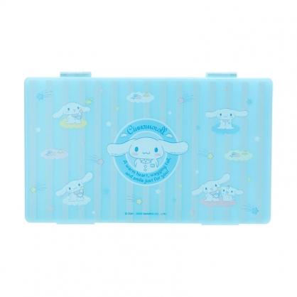 小禮堂 大耳狗 攜帶型塑膠口罩盒 抗菌口罩盒 口罩夾 口罩套 (藍 防疫對策)