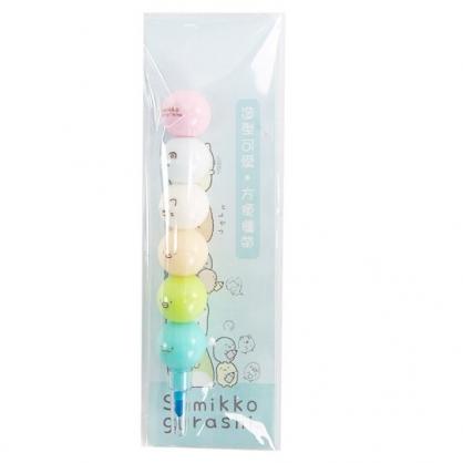 小禮堂 角落生物 六色免削彩虹筆 球型彩虹筆 色鉛筆 塗鴉筆 (藍 鉛筆)