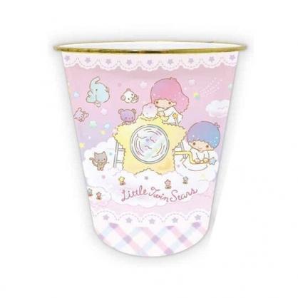 小禮堂 雙子星 圓形無蓋垃圾桶 塑膠垃圾桶 圓垃圾桶 收納桶 (粉 星星機)