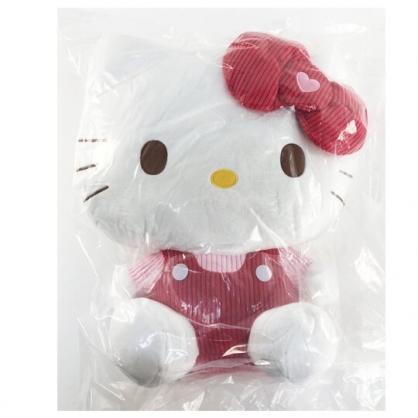 小禮堂 Hello Kitty 造型絨毛抱枕 絨毛靠枕 午睡枕 絨毛玩偶 大型玩偶 (紅吊帶褲)