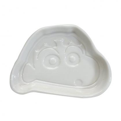 小禮堂 蠟筆小新 造型陶瓷醬料盤 醬油碟 小菜碟 小碟 (白 大臉)