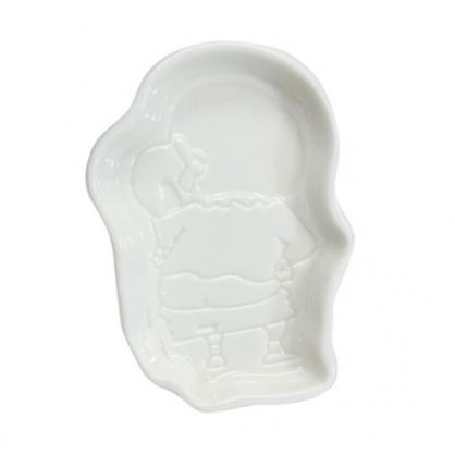 小禮堂 蠟筆小新 造型陶瓷醬料盤 醬油碟 小菜碟 小碟 (白 屁股)
